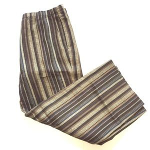 "DKNY linen striped pants 35"" waist stretch"